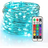 YIHONG Fairy String USB Plug-in Lights - 33ft Long Twinkle Lights - Color ChangeFirefly Lights with RF Remote - 13 Vibrant C