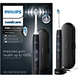Philips Sonicare ProtectiveClean 5100 Gum Health, Rechargeable electric toothbrush with pressure sensor, Black HX6850/60, 1 C