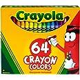 CRAYOLA 52-0064 Crayon Box with Sharpener, 64 Colours, Gift, Colouring, Drawing, Christmas, Non Toxic