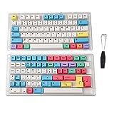 HK ゲーム用染料昇華 | チェリープロファイル | 厚みのあるPBTキーセット メカニカルキーボード用 139 Keys マルチカラー (Chalk)