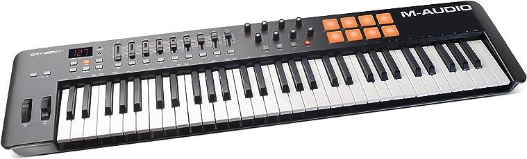 M-Audio USB MIDIキーボード 61鍵 8パッド ・8ノブ・9フェーダー Oxygen61