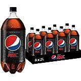 Pepsi Max Cola Soft Drink, 8 x 2L
