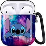 Cute Stitch Airpods Case Cover Personalized,Durable Airpods Accessories for Apple Airpods Charging Case 2&1,Shockproof Drop P