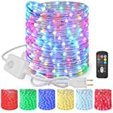 Brizled Color Changing Rope Lights, 18ft 180 LED Plug in Rope Lights, Connectable Indoor Outdoor Rope Lights with Remote, Twi