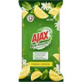 Ajax Eco Multipurpose Antibacterial Disinfectant Biodegradable Compostable Surface Cleaning Wipes Fresh Lemon 40 Pack