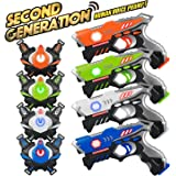 Laser Tag Guns Sets 4 Pack for Kids Adults Infrared Laser Tag Toy with Vest and Gun Indoor Outdoor Group Activity Laser Battl