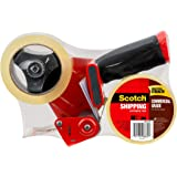 Scotch Commercial Grade Shipping Packaging Tape and Dispenser 48mm x 50m 3750-2-ST (Pack of 2)