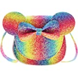 Little Girls Toddlers Mini Crossbody Shoulder Bag Coin Purse with Cute Mouse Ear Bowknot