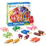 Learning Resources Smart Snacks Alpha Pops, Alphabet Matching & Fine Motor Skills Toy, Letters, 26 Double Sided Pieces, Ages