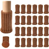 24PCS Furniture Pads High Elastic Floor Protectors Non Slip Chair Leg Feet Socks Covers Furniture Caps Set, Fit Diameter from