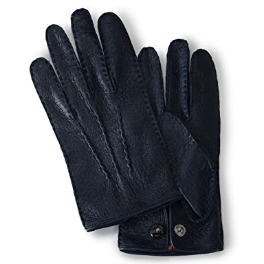 Clifton Peccary Handsewn Gloves Unlined 15-1043: Navy