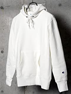Reverse Weave Pullover Hooded Sweat Shirt 112-55-0016: White