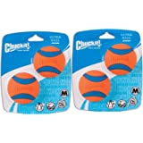 Canine Hardware Chuckit Medium Ultra Balls Classic (2 Packages each Containing 2 Balls / 4 Balls Total)