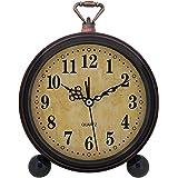 Konigswerk Vintage Retro Old Fashioned Decorative Quiet Non-ticking Sweep Second Hand Quartz Analog Large Numerals Desk Clock
