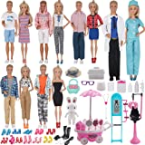 EuTengHao 90Pcs Doll Clothes and Accessories for 11.5'' Girl Doll and 12'' Boy Doll Doctor Nurse Playset Includes 25 Clothes