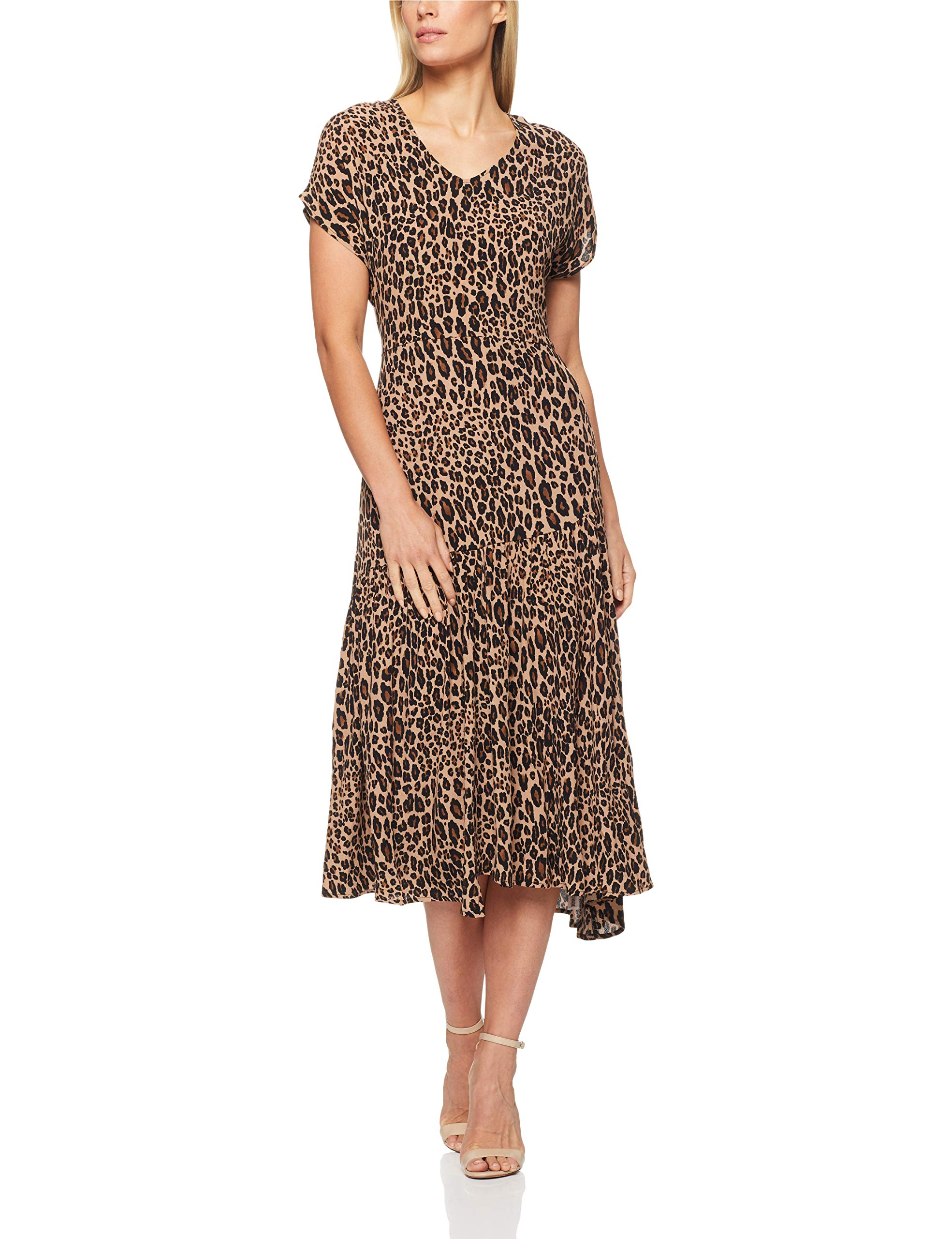 French Connection Women's Animal Tiered Longline Maxi