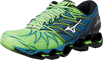 Mizuno Men's Wave Prophecy Shoes, Green Gecko/Silver/Blue Sapphire, 12 US