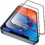 CASEKOO iphone12pro max用 ガラスフィルム ガイド枠付き 2枚セット 日本旭硝子製 全面保護フィルム 強化ガラス 透過率99.99% 気泡ゼロ 傷防止( アイフォン12 Pro Max 用 フィルム 6.7インチ )