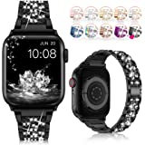 LELONG for Apple Watch Band 38mm 40mm 42mm 44mm Series 5 Series 4 3 2 1 with Case, Bling Replacement Bracelet iWatch Band, Di