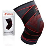 Knee Compression Brace for Men and Women - Non Slip Sleeve with Straps for Pain Relief, Meniscus Tear, Sports Safety in Baske