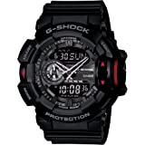 Casio G-Shock Analogue/Digital Mens Black Rotary Watch GA400-1B GA-400-1BDR