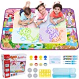 Hautton Magic Water Doodle Mat, Large Drawing Painting Writing Board with Accessories Educational Learning Toy Age 3+ Kids Bo