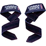 Lifting Straps Suede Leather Deadlift by Cobra Grips Weightlifting Wrist Support Straps for Men & Women Wraps Heavy Duty Powe