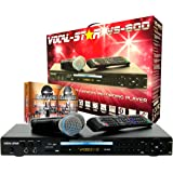 Vocal-Star VS-800 Karaoke Player HDMI Multi Format Karaoke Machine with Bluetooth, 2 Microphones and 150 Songs