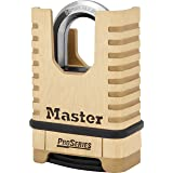 Master Lock Shrouded Combination Padlock, 57 mm Size, Gold