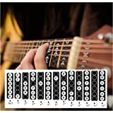 Guitar Fretboard Stickers Vinyl Fingerboard Decals Frets Map Neck Notes Trainer for Beginner Learner Practice Music Theory 6