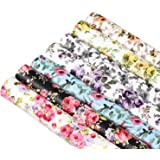 """Picheng Rose Flower Printed Faux Leather Sheets PU Synthetic Leather Sheet Assorted 7 Pcs 8.2"""" x 11.8"""" (21 cm x 30 cm) for Ea"""