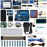 UNO Project Super Starter Kit for Arduino w/ UNO R3 Development Board LCD1602 Membrane Switch Servo Stepper Motor Joystick Po