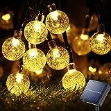 Solar Garden Lights Outdoor Waterproof, 50LED Globe Fairy Lights , 8 Mode 7M/24Ft Indoor/Outdoor Solar String Lights for Gard