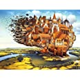 Agirlgle Jigsaw Puzzles 1000 Pieces for Adults for Kids, Jigsaw Puzzles -Fly Castle- 1000 Pieces Jigsaw Puzzles,Softclick Tec