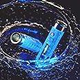 RovyVon Aurora A7 LED Keychain Flashlight, 550 Lumens, Cree Rechargeable Mini Torch, Fluorescent Blue,Super Bright EDC Light