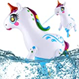 PhyPa Unicorn Water Guns for Kids, Inflatable Super Squirt Toy, Water Soaker Blaster Toy for Girls and Boys, Children Summer