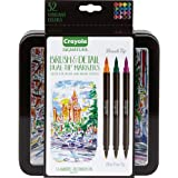 CRAYOLA 58-6501 Signature Brush & Detail Dual Tip Markers,16pk, 32 Colours, Brush Tip, Pen Tip, Calligraphy Set, Lettering, D