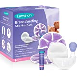 Lansinoh Breastfeeding Starter Set for Nursing Mothers, Breastfeeding Baby Showers and New Moms, Contains Nursing Essentials