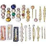 20 Pcs Macaron Hair Clips for Women Acrylic Pearl Hair Clip Handmade Pearl Hair Pins Gifts for Girls Hair Barettes for Women