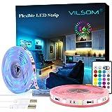 LED Strip Lights, ViLSOM 19.7ft USB Led-Light-Strip with Remote, RGB 5050 Color Changing Rope Lights for 40 to 100in TV Backl