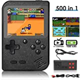 DigitCont Retro Mini Handheld Arcade, Built-in with 500 Classic Games 2 Players Mode Miniature Console Handheld Portable Game
