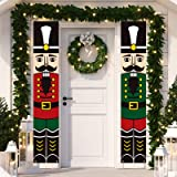 Dazonge Nutcracker Christmas Decorations Outdoor | Nutcracker Soldier Vertical Christmas Signs | Vintage Christmas Porch Deco