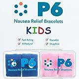P6 Health Original Natural Anti-Nausea Car Sea Sickness Relief Children's Wrist Bands 2 Pack Pink and Royal Blue