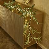 Hypestar Artificial Lighted Olive Garland| Warm White 96LED 6FT Battery Operated with Timer| Tabletop Decoration Centerpiece|