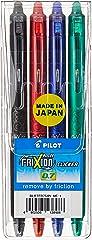 Pilot BLRT-FR7-S4 Frixion Clicker 4 Colours Pack, 0.7Mm