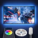 Govee LED TV Backlight 6.56ft RGB Strip Light,Non-Waterproof TV Bias Lighting Kit with Remote Controller for HDTV Desktop PC,