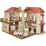 【Amazon.co.jp 限定】シルバニアファミリー 赤い屋根の大きなお家 デラックス ―なかよしガールズセット―