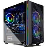 Skytech Chronos Mini Gaming PC Desktop - AMD Ryzen 3 3100, NVIDIA GTX 1650 4GB, 8GB DDR4, 500GB SSD, A320 Motherboard, 550 Wa