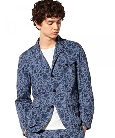 Botanical Liberty Print Work Jacket 3225-139-1902: Navy