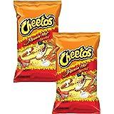 Doritos Frito-Lay Cheetos Crunchy Flaming' Hot Cheese (Imported),226.8g (Pack of 2)